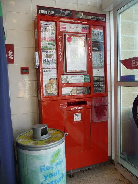 St. Ives: postbox inside Tesco supermarket