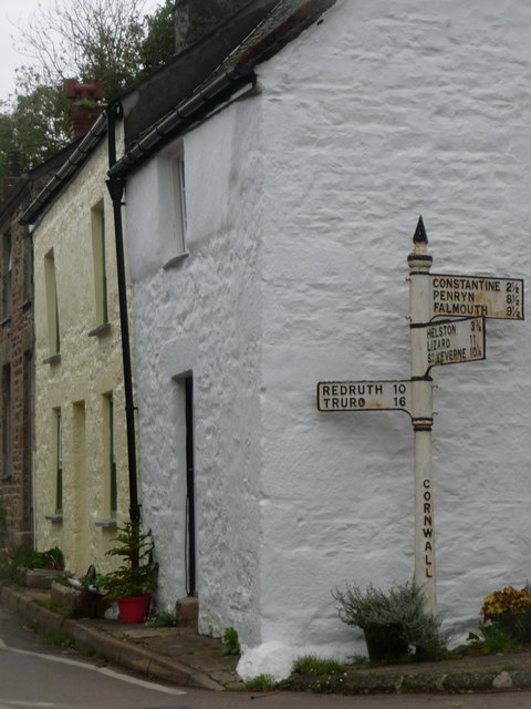 Gweek: an old-fashioned signpost