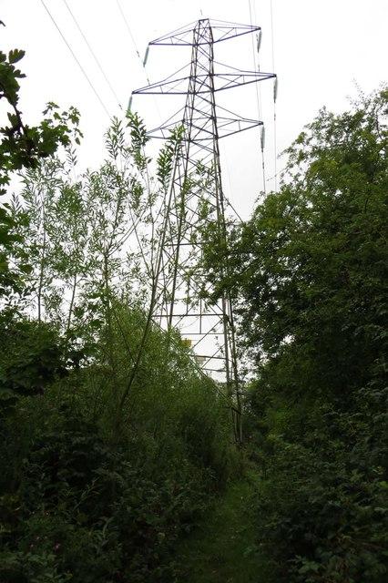 Pylon by the footpath