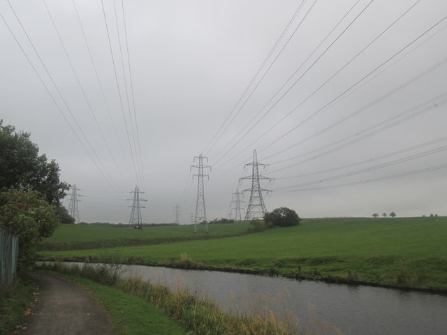 Overhead power lines east of Whitebirk