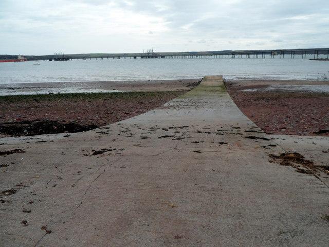 Slipway into Gelliswick Bay, Milford Haven