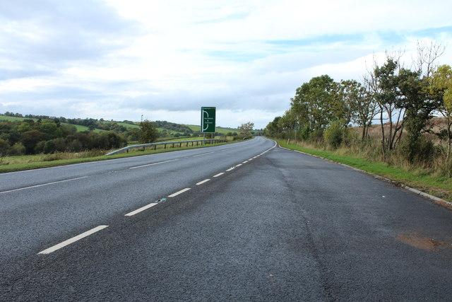 A76 to Kilmarnock near Cumnock