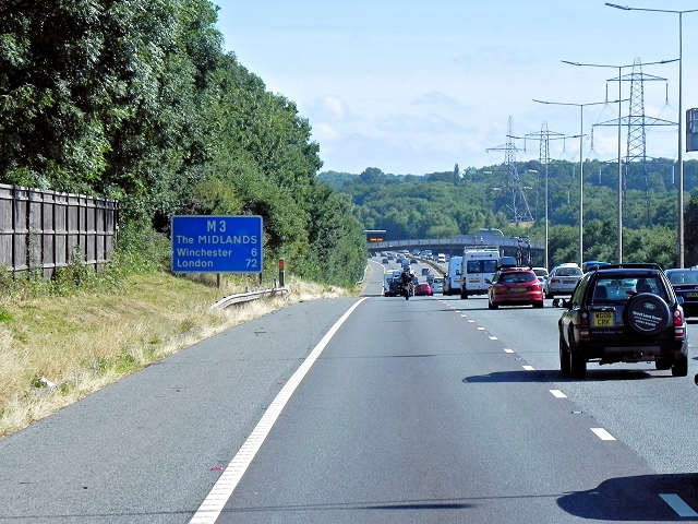 Northbound M3, Eastleigh