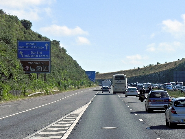Northbound M3 After Junction 11