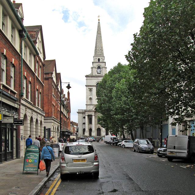 Spitalfields: Brushfield Street and Christ Church