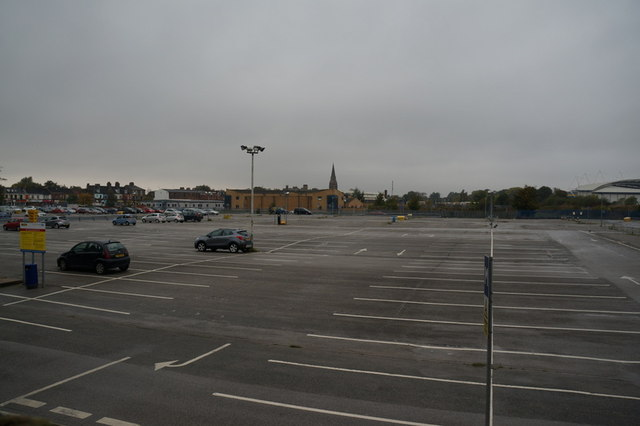 One of the car parks at Hull Royal Infirmary