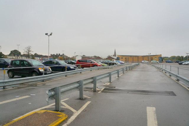 The car park exit at Hull Royal Infirmary