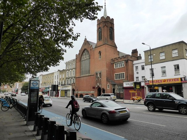 The Guardian Angels church on Mile End Road