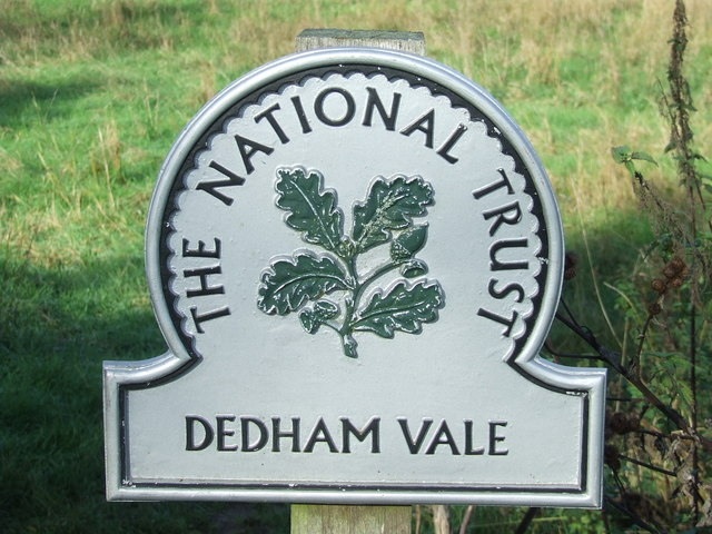 Dedham Vale National Trust Sign