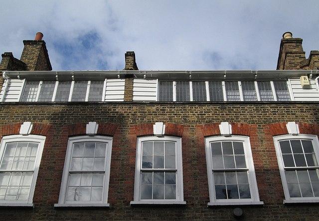 Spitalfields: Fournier Street - garret silk-weaving workshops