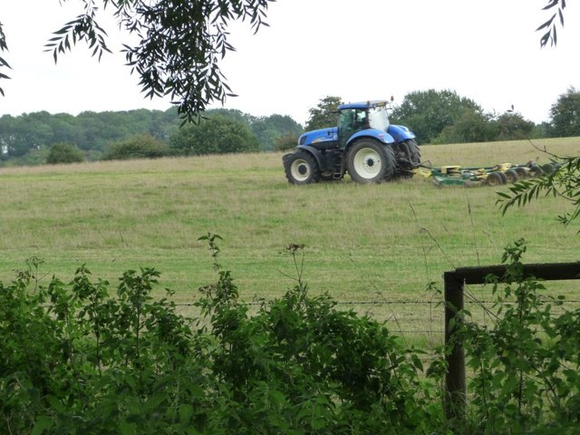 Tractor at work, west of Parlow Bottom