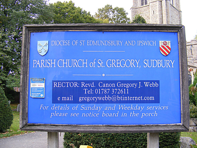 St.Gregory's Church sign