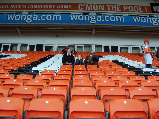 South Stand Fans, Bloomfield Road, Blackpool