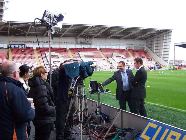 Sky Sports Presenters at Blackpool FC's Bloomfield Road Ground - 1