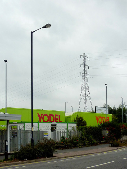 Yodel by Owen Road in Willenhall, Walsall