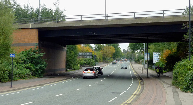 Bridge over the A462 in Willenhall, Walsall