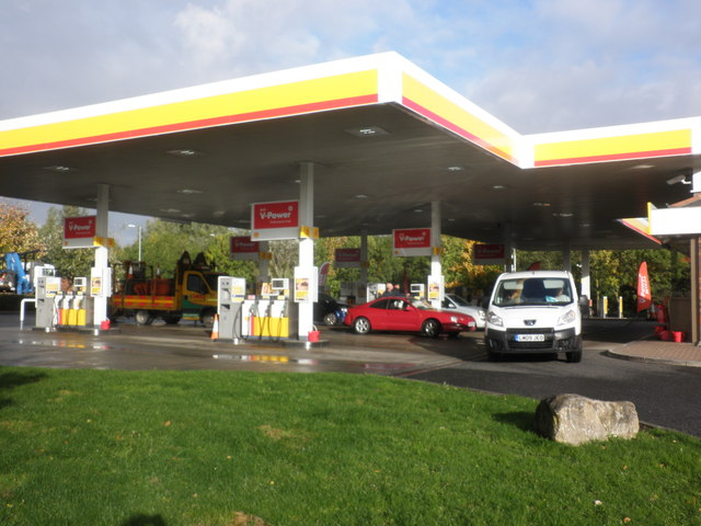 Shell filling station, Durham Services