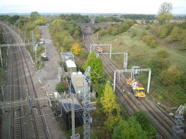 West Coast Main Line: Northampton Loop junction