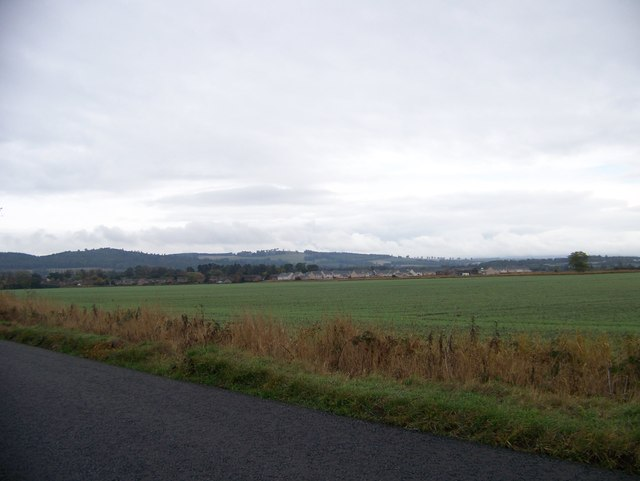 Looking across the fields to Inchture