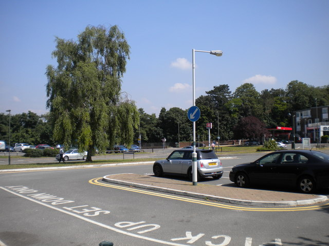 Station forecourt, Tattenham Corner