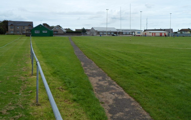 Path through Milford Haven RFC's ground