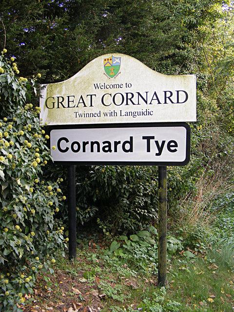 Cornard Tye Village name sign
