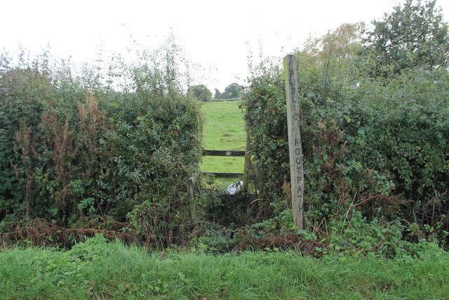Stile and Public Footpath off Crowfoot Lane