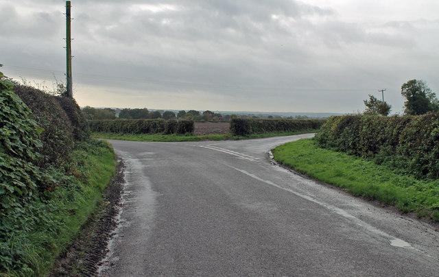 Junction off Ashbourne Road