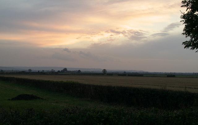 Sunset looking towards East Heslerton
