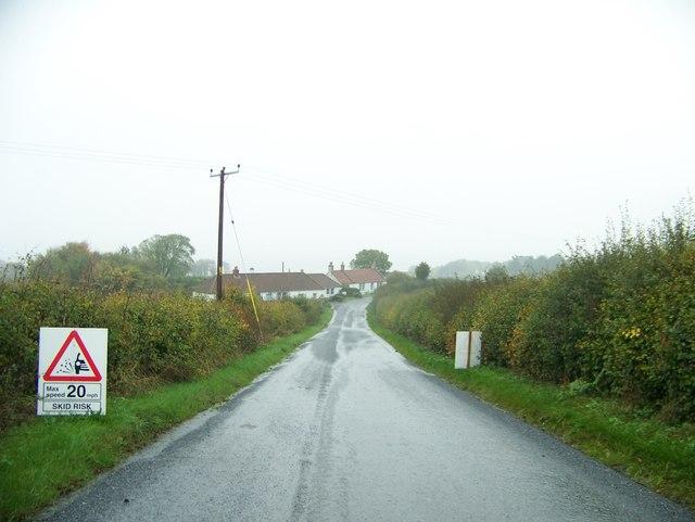 Approaching the Byres near Balmerino, Fife