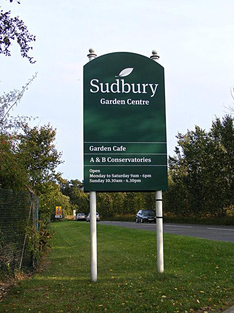Sudbury Garden Centre sign