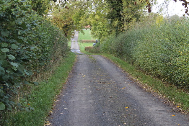 Taylor's Lane becomes a road to Broad Close Farm