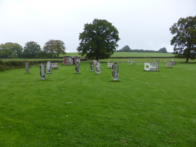 Part of a paintball combat site at Middle Cefn farm