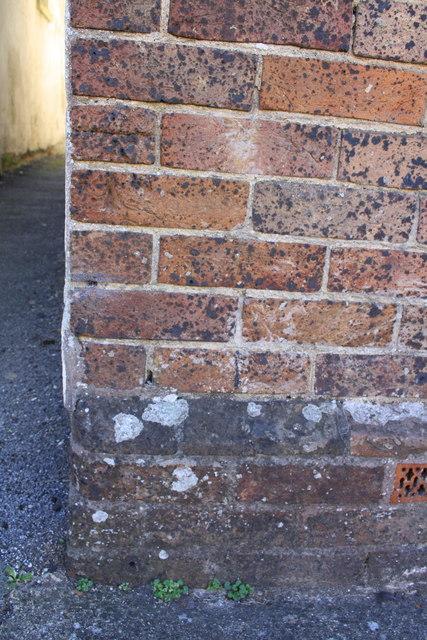 Benchmark on #12 Alington Road