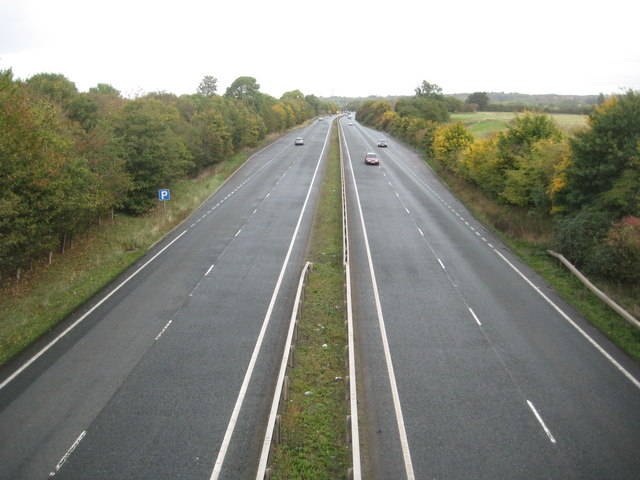 A43 in Rothersthorpe and Milton Malsor
