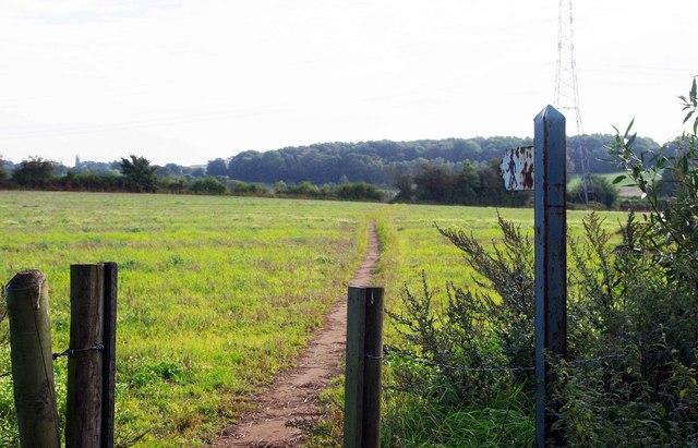 Public footpath to Stanklyn Lane, near Spennells, Kidderminster