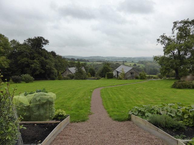 View above Holling Grange Farm