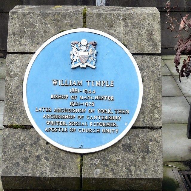 Blue plaque: William Temple