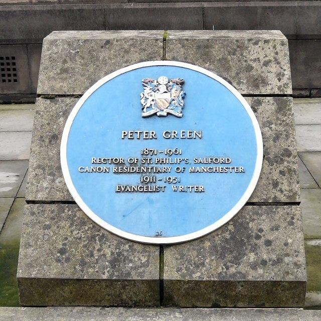 Blue plaque: Peter Green