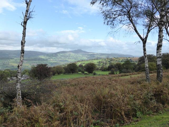 View from Darren Cilau car park above Llangattock