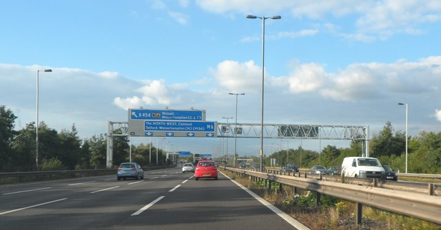 Approaching Junction 10 on the M6