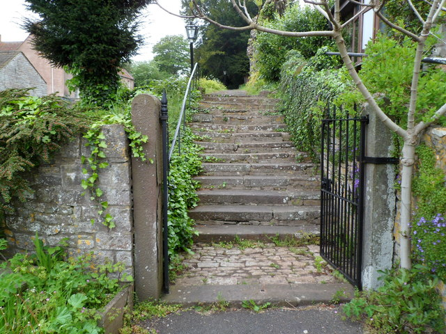 Steps up to the churchyard, Aust