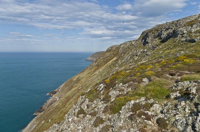 Cliffs north of Mynydd Mawr