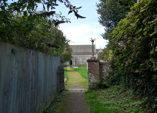 Approaching St John the Evangelist, West Meon from a footpath