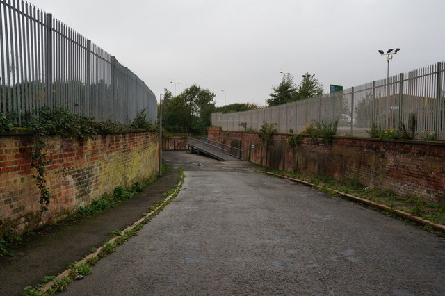 A path leading to West Dock Road, Hull