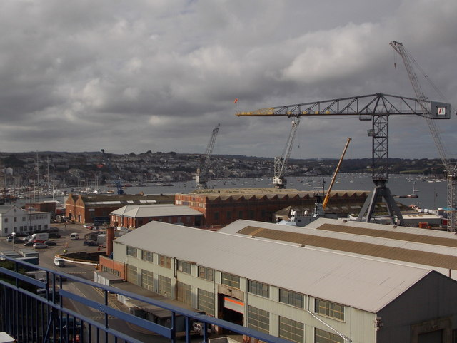 Falmouth: view over the docks