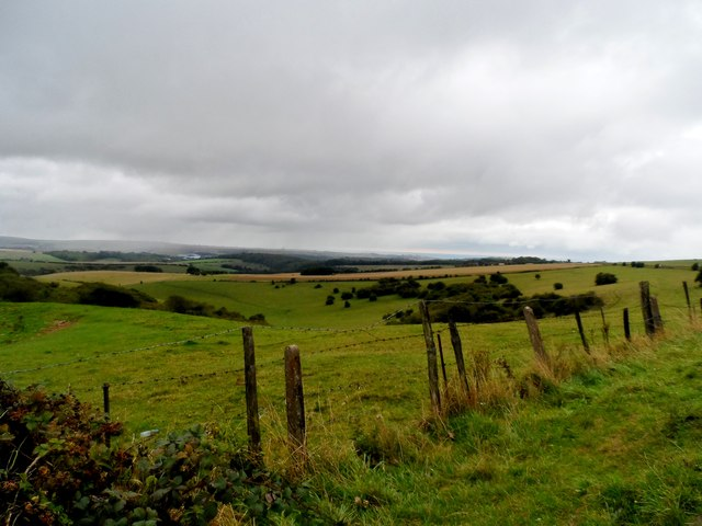 Looking south from the top of Ditchling Beacon