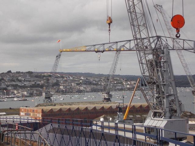 Falmouth: a busy crane-scape