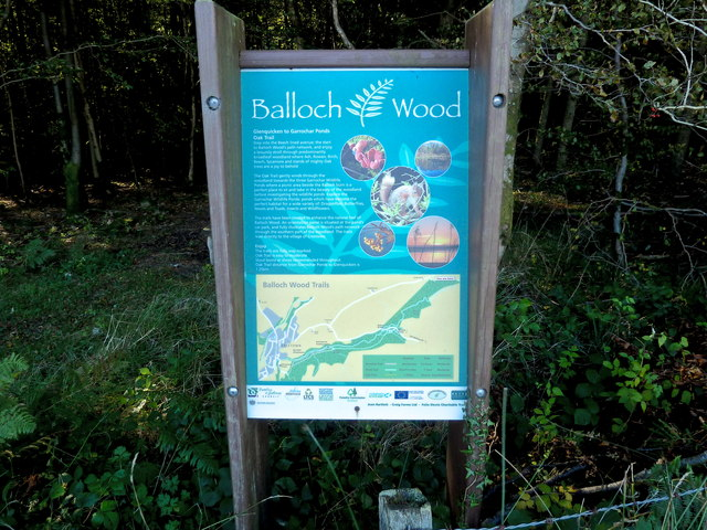 Information board and map