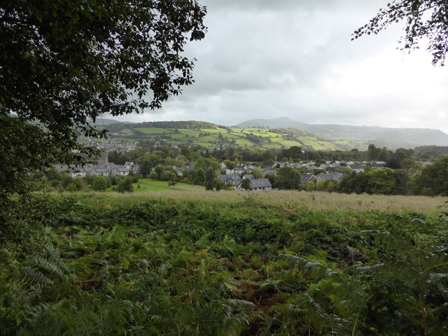 View to Llangattock from the canal towpath